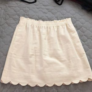 JCrew Scalloped Skirt with Pockets - Size 10